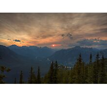 Bow Valley Sunset Photographic Print