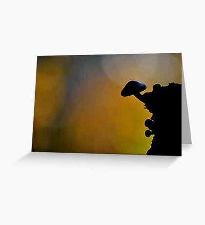 Brick cap Silhouette  Greeting Card