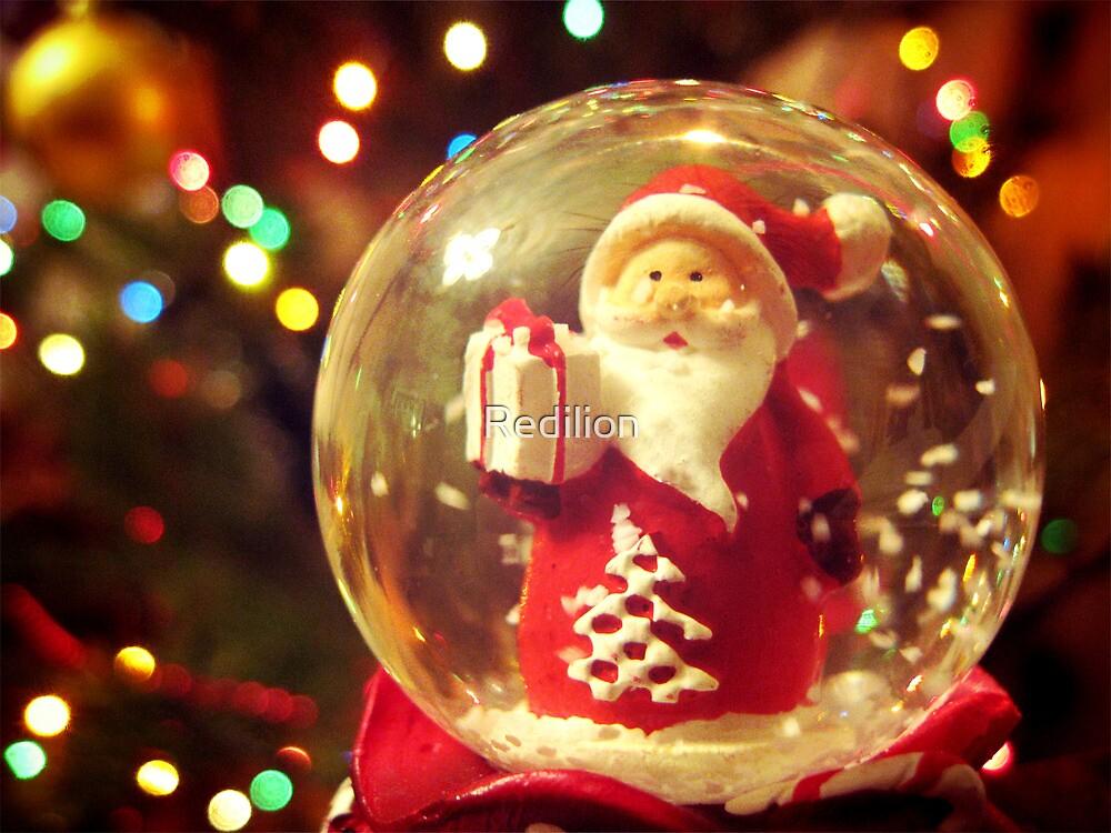 Snow Globe Santa by Redilion