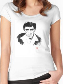 tony montana Women's Fitted Scoop T-Shirt