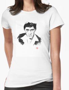 tony montana Womens Fitted T-Shirt