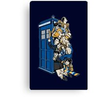 Doctor Who Mad Men in a box Canvas Print