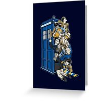 Doctor Who Mad Men in a box Greeting Card