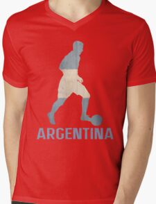 Argentina Mens V-Neck T-Shirt