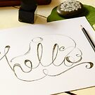 """The word """"hello"""" in calligraphy by Tuky Waingan"""
