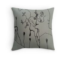 Funny Thoughts Throw Pillow
