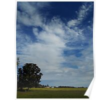Clouds Above The Farm Poster