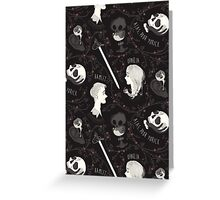 Shakespearean pattern - Hamlet Greeting Card