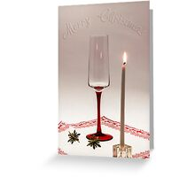 First candle for Christmas Greeting Card