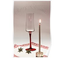 First candle for Christmas Poster