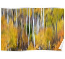 Surreal Aspen Tree Magic Abstract Art Poster