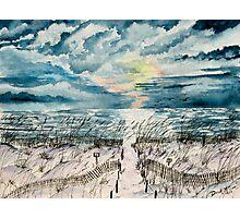 beach sunset art print Photographic Print