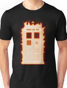 Flaming Tardis Unisex T-Shirt