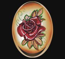 red tattoo rose shirt. Kids Tee