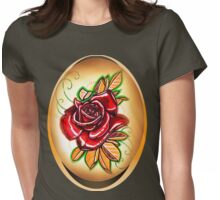red tattoo rose shirt. Womens Fitted T-Shirt