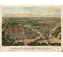 St. Louis World's Fair 1904 Map (Large) Photographic Print