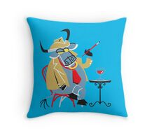 Cute Little Cool Bull!!! Throw Pillow