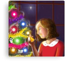 The Girl & the Angel of the Tree Canvas Print