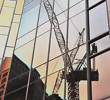 Construction Crane Reflection, Sydney, Australia 2013 by muz2142