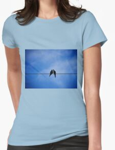 ...and kiss your worries away Womens Fitted T-Shirt