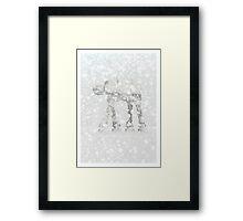 Subtle Seasons greetings Framed Print