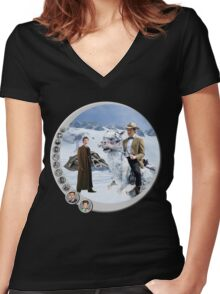 The 10.5th Day of the Doctor Jedi Women's Fitted V-Neck T-Shirt