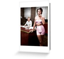 Female Lingerie Model Colorized Greeting Card