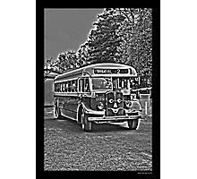 A smiling Bus Photographic Print