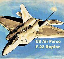 US Air Force F-22 Raptor Manga by nhk999