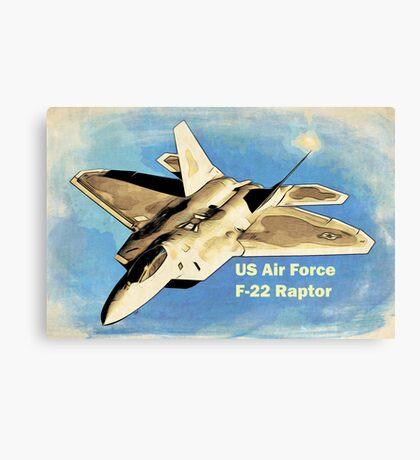 US Air Force F-22 Raptor Manga Canvas Print