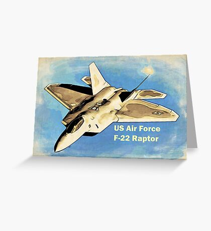 US Air Force F-22 Raptor Manga Greeting Card