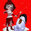 The Witch and the Snowman by LoneAngel