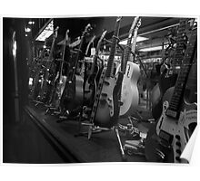 Guitars. Greenwich Village. B&W Poster