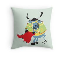 Cute Little Matador Bull!!! Throw Pillow