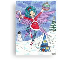 Merry Fairy Christmas Metal Print