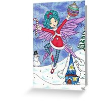 Merry Fairy Christmas Greeting Card