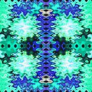 Turquoise Blue Puff Abstract by donnagrayson