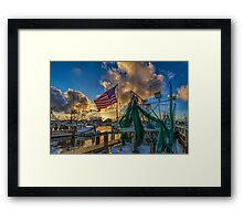 Pledge allegiance  to the flag Framed Print