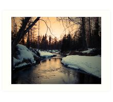 Winter on Campbell Creek Art Print