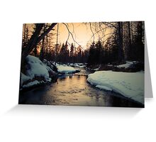 Winter on Campbell Creek Greeting Card