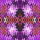 Purple Puffs Abstract Art by donnagrayson