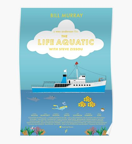 The Life Aquatic with Steve Zissou Poster Poster