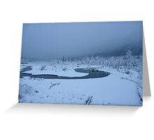 But The River Isn't Frozen Greeting Card