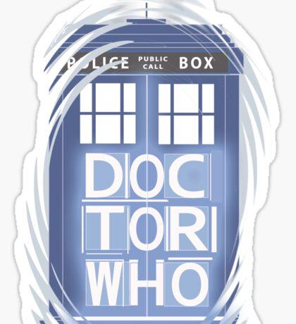 wibbly wobbly timey wimey TARDIS Sticker