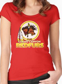 The Cosmo Canyon Redfurs - Redskins  Women's Fitted Scoop T-Shirt