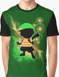 Super Smash Bros. Green Ness Silhouette Graphic T-Shirt
