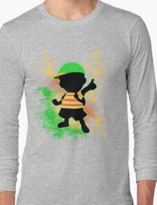 Super Smash Bros. Green Ness Silhouette Long Sleeve T-Shirt