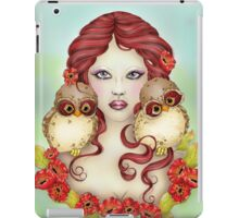 The Guardian - Owl and Maiden Fantasy Art iPad Case/Skin