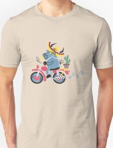Cute Bull Driving A Motorcycle!!! T-Shirt