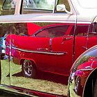 Red Chevy Bel Air Reflection by studiojanney